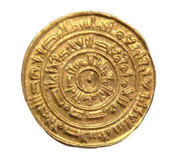 دينار فاطمي ضرب فى طرابلس سنة 446 هـ/1054 م