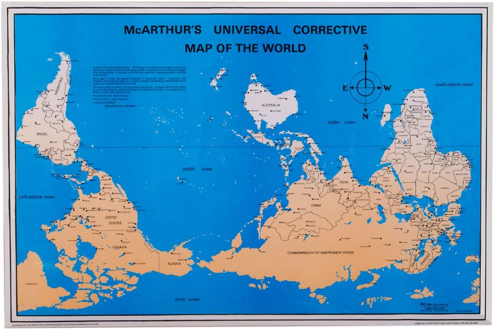 خريطة العالم النرجسية - خريطة العالم مرسومة وفق قواعد نرجسية