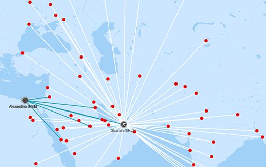 ارخص خطوط الطيران العربية - وجهات السفر