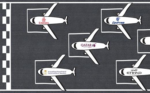 شركات الطيران الخليجيّة، من يستثمر أكثر؟