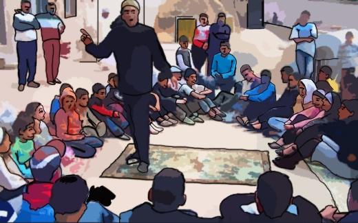 الحلقة، فن الحكواتي على الطريقة المغربية
