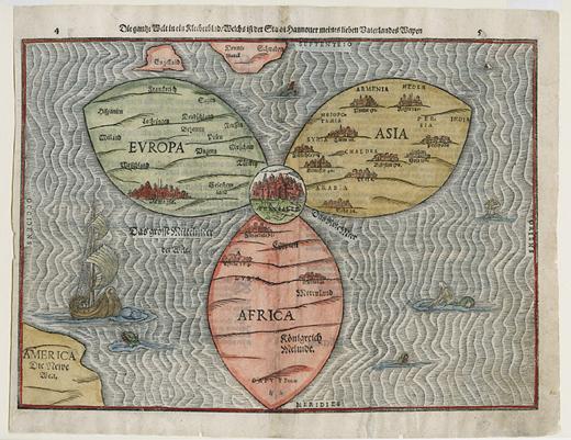 خريطة العالم النرجسية - خريطة العالم مرسومة وفق قواعد نرجسية - صورة 1