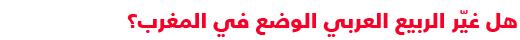دليل مبسط للتعرف على السياسة في المغرب - الربيع العربي في المغرب