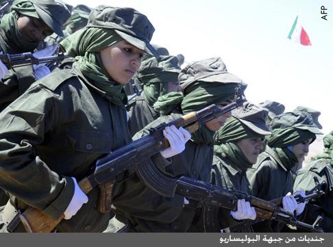 الصحراء الغربية - صورة لجنديات