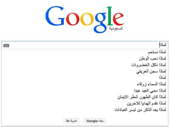 عن ماذا يسأل العرب محرك البحث Google؟ 1 1/2/2015 - 1:35 ص