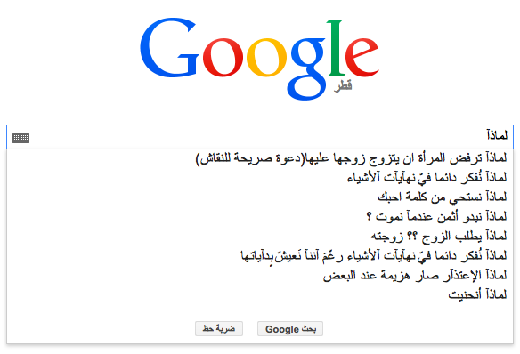 عن ماذا يسأل العرب محرك البحث Google؟ 10 1/2/2015 - 1:35 ص