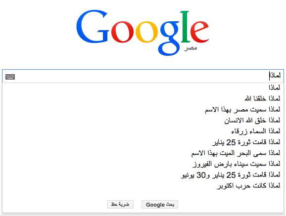 عن ماذا يسأل العرب محرك البحث Google؟ 2 1/2/2015 - 1:35 ص