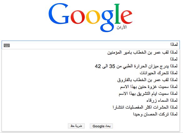 عن ماذا يسأل العرب محرك البحث Google؟ 3 1/2/2015 - 1:35 ص