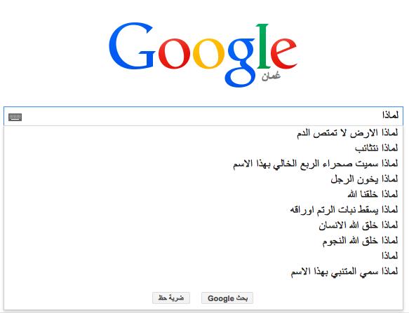 عن ماذا يسأل العرب محرك البحث Google؟ 4 1/2/2015 - 1:35 ص