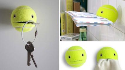 حيل تسهل الحياة اليومية - افكار تسهل الحياة اليومية - كرة التنس