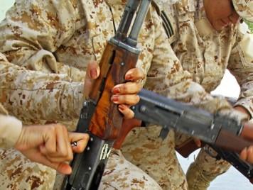 بين مقاتلات البشمركة في كردستان العراق