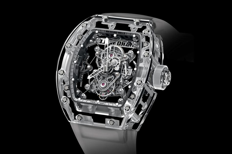 أغلى ساعات العالم - أغلى الساعات في العالم - Richard Mille Tourbillon RM 56-02 Sapphire