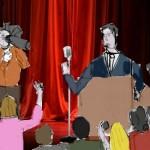 الاستغلال السياسي لنجوم الكوميديا