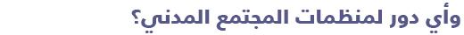 السياسة في تونس - الدليل المبسط للتعرف على السياسة في تونس - منظمات المجتمع المدني