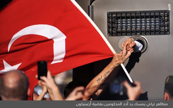 الاسلام التركي وحزب العدالة والتنمية - متظاهر تركي