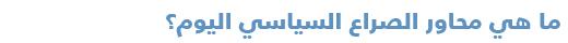 دليل مبسّط للتعرف على السياسة في البحرين - محاور الصراع السياسي