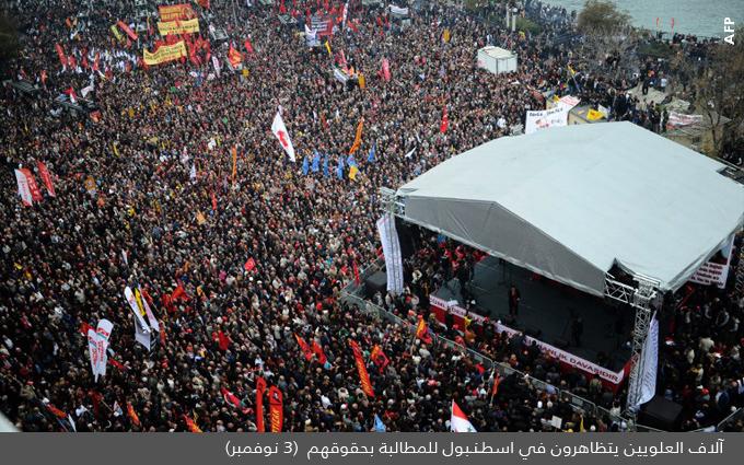 الاسلام التركي وحزب العدالة والتنمية - مظاهرة العلويين