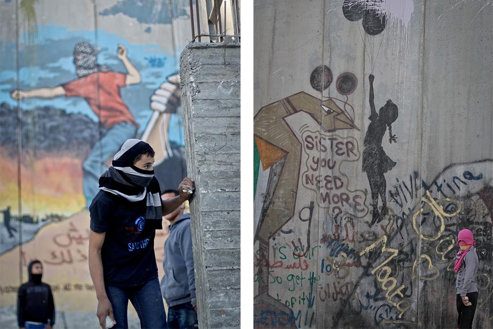 بالصور: ما يرويه الجدار الفاصل