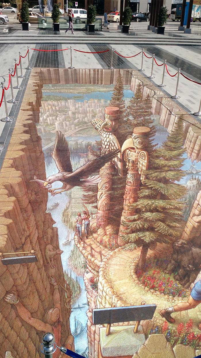 مهرجان للفن الثلاثي الأبعاد في الشرق الأوسط - 3D art fest Dubai Marina