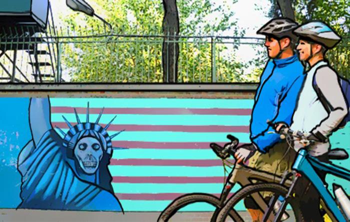 رحلة على الدراجة الهوائية عبر إيران .. مغامرة بريطانيين في إيران - صورة 1