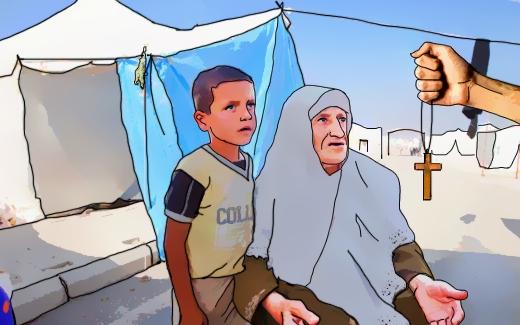 مبشّرون مسيحيون ينشطون في مخيّمات اللجوء السورية