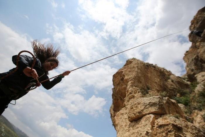 رياضة تسلق الصخور أصبحت متاحة للفلسطينين