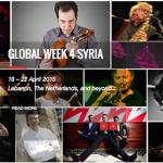 """""""أسبوع عالمي لسوريا"""": 200 موسيقي من جميع أنحاء العالم يتّحدون لدعم السلام في سوريا"""