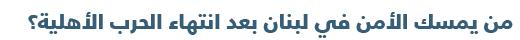 دليل مبسط للتعرف على السياسة في لبنان - الأمن في لبنان