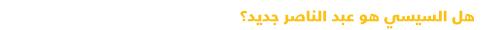 دليل مبسط للتعرف على السياسة في مصر - سيسي وعبد الناصر