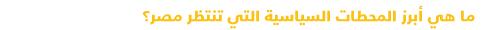 دليل مبسط للتعرف على السياسة في مصر - المحطات السياسية