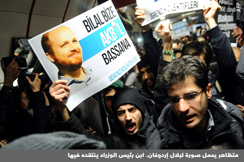 مظاهرة ضد الفساد السياسي