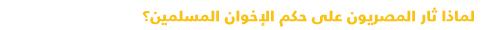 دليل مبسط للتعرف على السياسة في مصر - ثورة المصريون على حكم الإخوان
