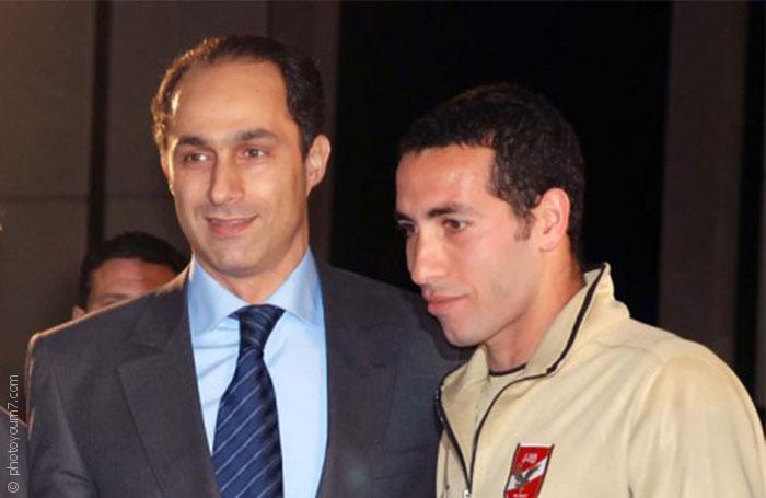 مواقف محمد أبو تريكة السياسية - دعم جمال مبارك