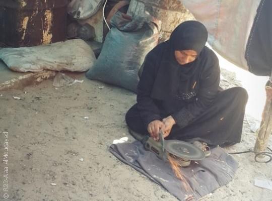 نساء من غزة يمارسن مهن الرجال - صورة 1