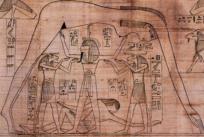 قصص خلق الكون في حضارات الشرق القديمة - الآلهة جب ونوت وتشو