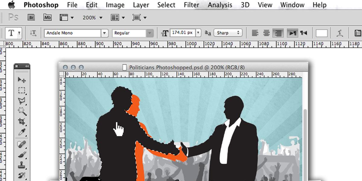 السياسيون يجيدون استخدام الـPhotoshop