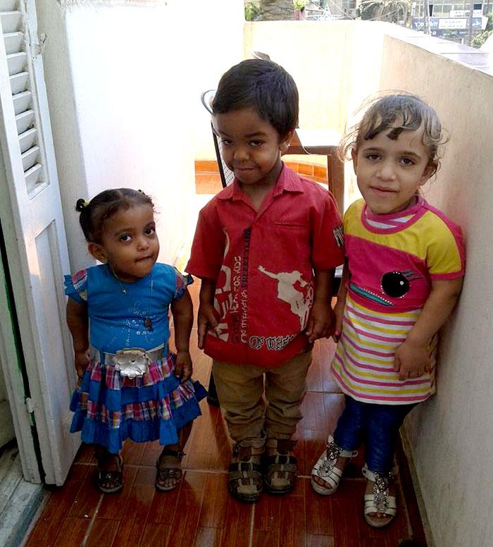 الأقزام في مصر - اطفال-اقزام-مصريين