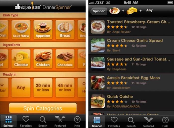 افضل تطبيقات الطبخ الاجنبية لوصفات الطعام - AllRecipes