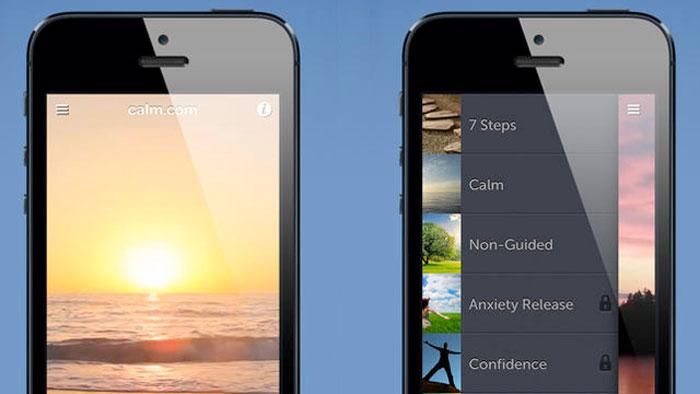 افضل التطبيقات المجانية للسيطرة على التوتر - Calm App