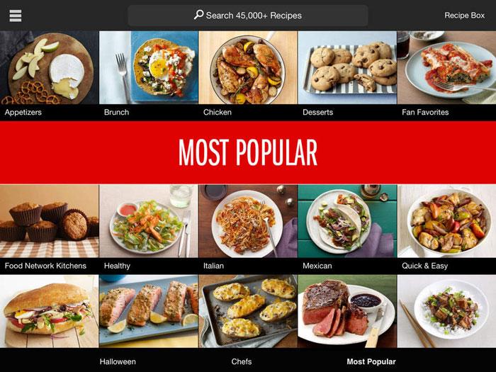 افضل تطبيقات الطبخ الاجنبية لوصفات الطعام - FoodNetwork