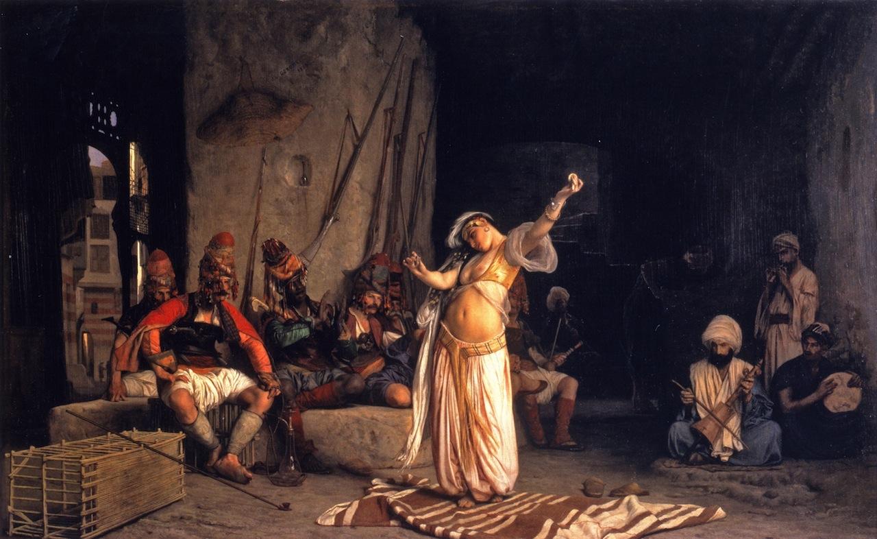 الرقص الشرقي - لوحة لـJean-Leon Gerome - رقصة العلمة - 1863