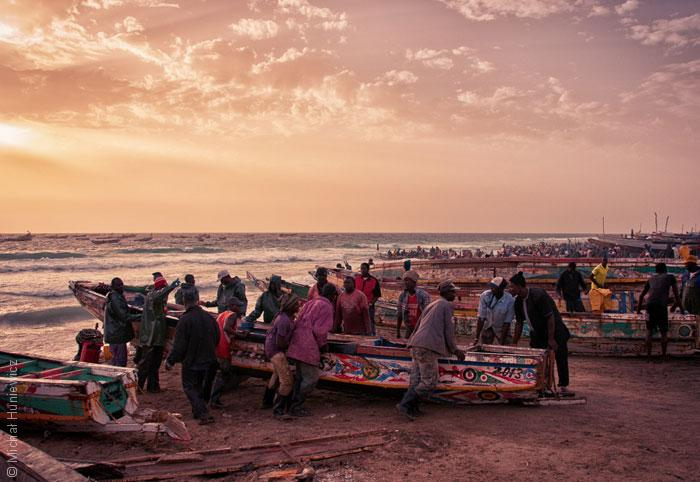 السمك في موريتانيا - قوارب صيد