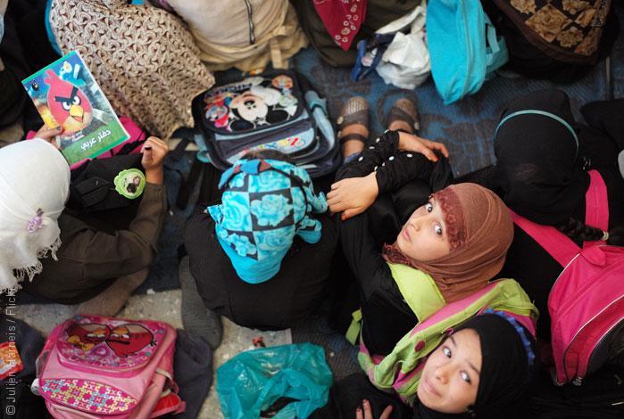 زواج القاصرات في العالم العربي .. هل يكون التعليم هو الحل؟ صورة طلاب مدرسة