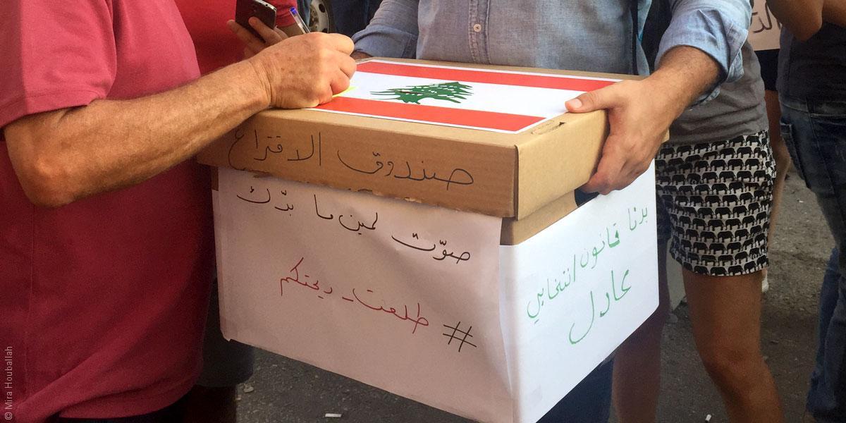 المتظاهرون في بيروت ينتخبون...