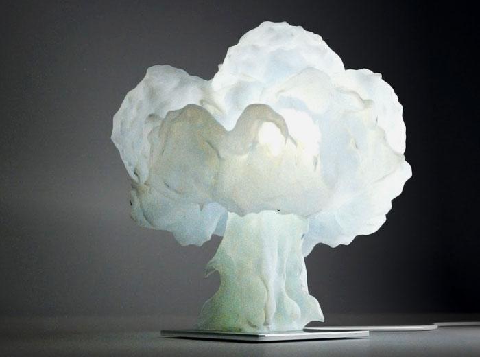 تقنية الطباعة ثلاثية الأبعاد في عالم التصميم - مصباح سحابة الانفجار