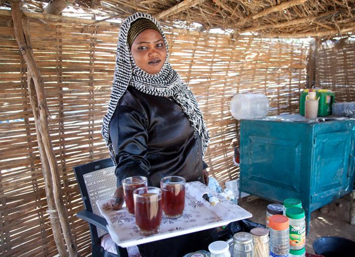 سيدات الشاي في الخرطوم