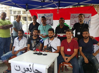 الحراك المدني اللبناني - الإضراب عن الطعام