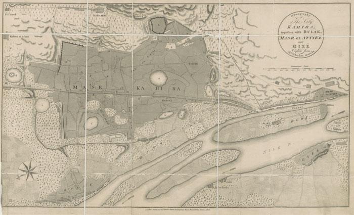 عواصم مصر العربية - خريطة القاهرة قديماً