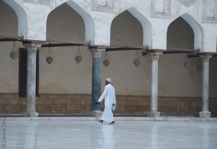 مناهج الأزهر - الباحة الداخلية لجامع الأزهر