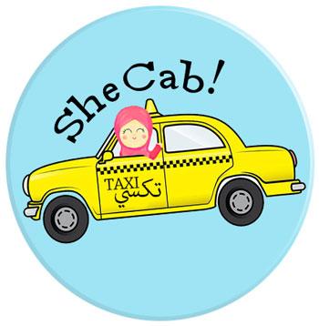 SheCab تاكسي للنساء في الأردن وسط رفض مجتمعي - لوغو